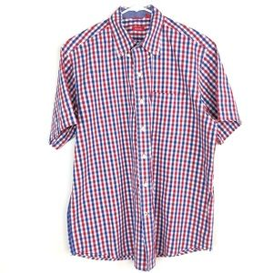 IZOD Gingham Plaid Button Down Shirt